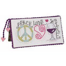 Quick Stitches 016 Peace Love Wine THUMBNAIL