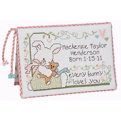 Quick Stitches 023 Lil' Bunny Birth Sampler