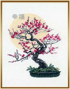 Riolis Cross Stitch Kit Bonsai Of Sakura Stoney Creek Online Store
