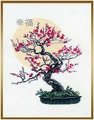 Riolis Cross Stitch Kit - Bonsai of Sakura