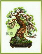 Riolis Cross Stitch Kit - Bonsai Pine