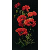 Riolis Cross Stitch - Poppies