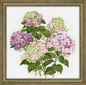 Riolis Cross Stitch Kit - Garden Hydrangea