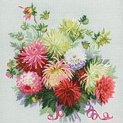 Riolis Cross Stitch - Dahlias
