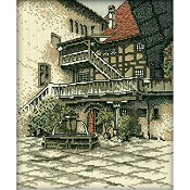 RTO Cross Stitch Kit - Castle Courtyard