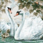 Riolis Cross Stitch - White Swans