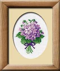 Riolis Cross Stitch Kit - Violets MAIN