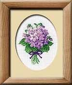 Riolis Cross Stitch Kit - Violets