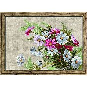 Riolis Cross Stitch Kit - Cosmos