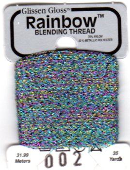 Glissen Gloss Rainbow Blending Thread 002 White Flame