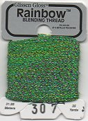 Glissen Gloss Rainbow Blending Thread 307 Multi Green THUMBNAIL