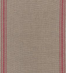 "Mill Hill Stitch Band - Ticking Stripe 27ct. Natural/Dark Red 6.6"" Wide - 18"" Cut MAIN"