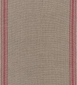"Mill Hill Stitch Band - Ticking Stripe 27ct. Natural/Dark Red - 18"" Cut THUMBNAIL"