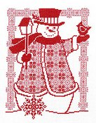 Imaginating - Redwork Snowman 2799