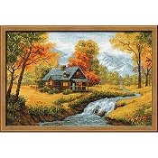 Riolis Cross Stitch Kit - Autumn View