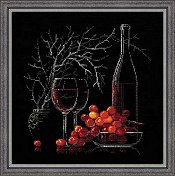 Riolis Cross Stitch Kit - Still Life with Red Wine