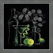 Riolis Cross Stitch Kit - Still Life with Martini