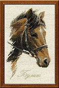 Riolis Cross Stitch Kit - Bulat (Brown Horse)