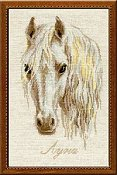 Riolis Cross Stitch Kit - Moon (White Horse)