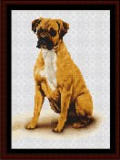 Cross Stitch Collectibles - Boxer THUMBNAIL