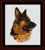 Cross Stitch Collectibles - German Shepherd