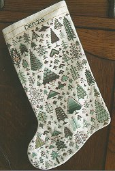 Rosewood Manor - Cranberry In Pines Christmas Stocking MAIN