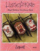 Lizzie Kate Snippet - Night Before Christmas Sleds THUMBNAIL