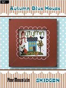 Pine Mountain Designs - Smidgen Series - Autumn Blue House THUMBNAIL