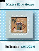 Pine Mountain Designs - Smidgen Series - Winter Blue House THUMBNAIL