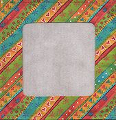 Stitch A Gift Banner - Diagonal Bright Stripes