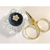 Kelmscott Designs - Antique Glass Salt Dip Pin Cushion Kit_THUMBNAIL