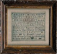 The Sampler House - Harriet Hazlin 1869