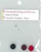 SamSarah Design Studio - Farmer's Market - Fresh Pear Embellishment Pack THUMBNAIL
