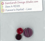 SamSarah Design Studio - Farmer's Market - Fresh Lime Embellishment Pack THUMBNAIL