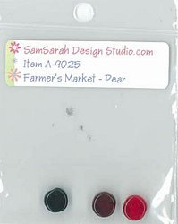 SamSarah Design Studio - Farmer's Market - Fresh Pear Embellishment Pack MAIN