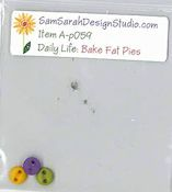 SamSarah Design Studio - Daily Life:  Bake Fat Pies! Embellishment Pack THUMBNAIL