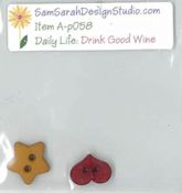 SamSarah Design Studio - Daily Life:  Drink Good Wine Embellishment Pack THUMBNAIL