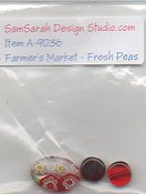 SamSarah Design Studio - Farmer's Market Vegetable Stand - Fresh Peas Embellishment Pack