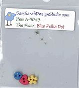 SamSarah Design Studio - The Flock - Blue Polka Dot Bird Embellishment Pack