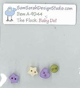 SamSarah Design Studio - The Flock - Baby Dot Bird Embellishment Pack