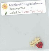 SamSarah Design Studio - Daily Life:  Tweet Your Song! Embellishment Pack THUMBNAIL