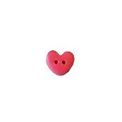 Button - Coral Heart, Small THUMBNAIL