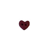 Button - Dark Red Plain Folk Heart, Extra Small MAIN