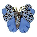 Button - Speckled Blue Butterfly MAIN
