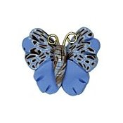 Button - Speckled Blue Butterfly THUMBNAIL