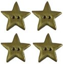 Button - Metallic Gold Star (Qty 4) MAIN