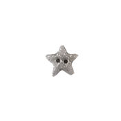 Button - Silver Glitter Star, Small THUMBNAIL