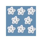 Button - White Glitter Snowflake, Extra Small - Set of 8