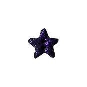 Button - Purple Glitter Galaxy Star, Small THUMBNAIL