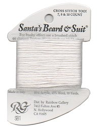 Rainbow Gallery Santa's Beard & Suit SB1 White-Discontinued (Sub w/ W88 Wisper)